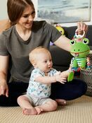 Lamaze Jibber Jabber Jake Baby Toy, Clip on Pram and Pushchair Toy, Soft Cuddly Newborn Baby Toy Frog 0+ mths additional 6