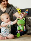 Lamaze Jibber Jabber Jake Baby Toy, Clip on Pram and Pushchair Toy, Soft Cuddly Newborn Baby Toy Frog 0+ mths additional 5