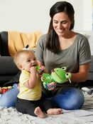Lamaze Jibber Jabber Jake Baby Toy, Clip on Pram and Pushchair Toy, Soft Cuddly Newborn Baby Toy Frog 0+ mths additional 2