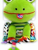 Lamaze Jibber Jabber Jake Baby Toy, Clip on Pram and Pushchair Toy, Soft Cuddly Newborn Baby Toy Frog 0+ mths additional 4