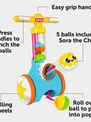 TOMY Toomies Pic & Pop Push Along Baby Toy | Toddler Ball Popper With Ball Launcher And Collector additional 2