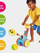 TOMY Toomies Pic & Pop Push Along Baby Toy | Toddler Ball Popper With Ball Launcher And Collector additional 3