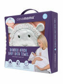 Clevamama Bamboo Apron Baby Bath Hooded Towel - Choose your Design additional 3