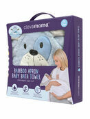 Clevamama Bamboo Apron Baby Bath Hooded Towel - Choose your Design additional 17