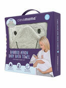 Clevamama Bamboo Apron Baby Bath Hooded Towel - Choose your Design additional 25