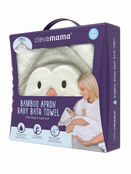 Clevamama Bamboo Apron Baby Bath Hooded Towel - Choose your Design additional 28