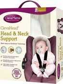 Clevamama ClevaFoam Head and Neck Support - Car Seat and Pram Insert (+0 Months) Grey additional 1