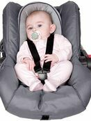 Clevamama ClevaFoam Head and Neck Support - Car Seat and Pram Insert (+0 Months) Grey/Purple additional 5