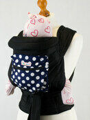 Mei Tai Baby Sling with Hood & Pocket - Blue with White Spots additional 2