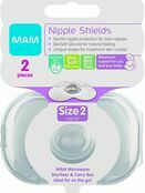 MAM Nipple Shields 2 Pack - Sizes 1 or 2 additional 2