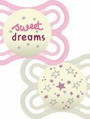 MAM Perfect Night Soother 2 Pack 0+ mths - Sweet dreams - Choose your design additional 2