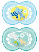 MAM Original Soother 6mths + 2 Pack - Choose your designs additional 2