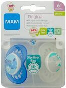 MAM Original Soother 6mths + 2 Pack - Choose your designs additional 4