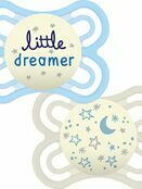 MAM Perfect Night Soother 2 Pack 6+ mths - Great designs available additional 2