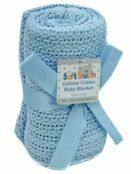 Soft Touch Cellular Cotton Baby Blanket 70 x 100cm - Choose your colour additional 1