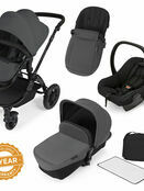 Ickle Bubba StompV2 All-in-One Travel System - Graphite Grey With Black Frame additional 1