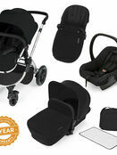 Ickle Bubba Stomp V2 All-in-One Travel System - Black With Silver Frame additional 1