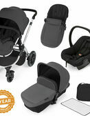 Ickle Bubba Stomp V2 All-in-One Travel System - Graphite Grey With Silver Frame additional 1