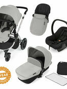 Ickle Bubba StompV2 All-in-One Travel System - Silver With Silver Frame additional 1