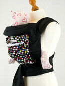 Mei Tai Baby Sling With Hood & Pocket - Bright Multi Spots additional 2