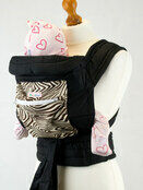 Mei Tai With Hood & Pocket - Brown Zebra Print additional 2