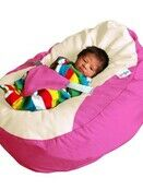 GaGa Pre-Filled Baby Bean Bag in Cerise Pink Colour additional 3
