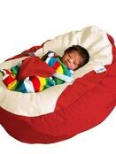 GaGa Cuddlesoft Red Pre-filled Baby Bean Bag with Adjustable Safety Harness additional 2