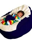 GaGa Navy Cuddlesoft Pre-Filled Baby Bean Bag with Adjustable Safety Harness additional 3