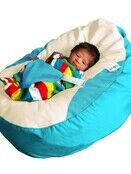GaGa Soft Turquoise Baby Bean Bag Seat with Adjustable Harness additional 1