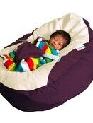 GaGa Cuddlesoft Aubergine Pre-Filled Washable Baby Bean Bag with Harness additional 3