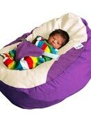 GaGa Vivid Purple Soft and Comfortable Baby Bean Bag Seat additional 3