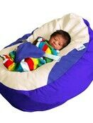 GaGa Bright Royal Blue Soft Baby Bean Bag With Adjustable Harness additional 3