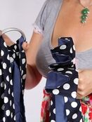Palm & Pond Baby Ring Sling - Navy Blue & White Spots additional 4
