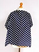 Palm & Pond Breastfeeding Cover With Boning - Navy Blue & White Spots, Large additional 3