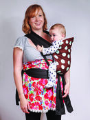 Brown/Blue Spot Soft & Strong Mei Tai Baby Sling additional 2