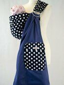 Palm & Pond Baby Ring Sling - Navy Blue & White Spots additional 1