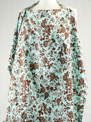 Palm and Pond Nursing Cover Extra Large Turquoise Floral additional 1