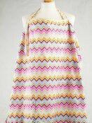 Palm and Pond Nursing Cover Extra Large Pastel Zigzag additional 1