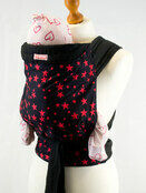 Palm & Pond Baby Mei Tai Sling - Black with Red Stars Pattern additional 1