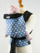 Pale Blue Mei Tai Baby Sling with White Polka Dots additional 1