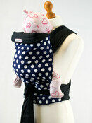 Palm & Pond Baby Mei Tai Baby Sling - Blue with White Spots Pattern additional 1