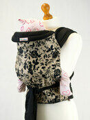 Palm & Pond Mei Tai Baby Sling -Black Floral on Tan additional 1