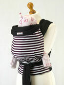 Palm & Pond Mei Tai Baby Sling  - Brown Stripe additional 1