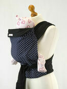 Palm & Pond Mei Tai Baby Sling - Blue Polka Dot additional 1