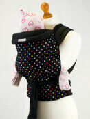 Palm & Pond Mei Tai Sling - Black & Multi Polka Dot Pattern additional 1
