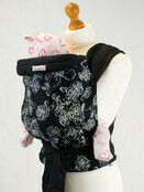 Palm & Pond Mei Tai Baby Sling - White Floral on Black additional 1
