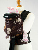 Hand Print Pattern Soft & Strong Mei Tai Baby Sling additional 1