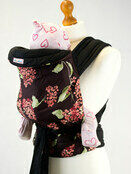 Palm & Pond Mei Tai Baby Sling - Pink/Mauve Floral additional 1