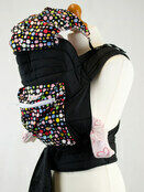 Mei Tai Baby Sling With Hood & Pocket - Bright Multi Spots additional 1