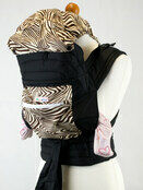 Mei Tai With Hood & Pocket - Brown Zebra Print additional 1